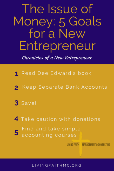 5 New Entrepreneur Goals_ The Issue of Money graphic